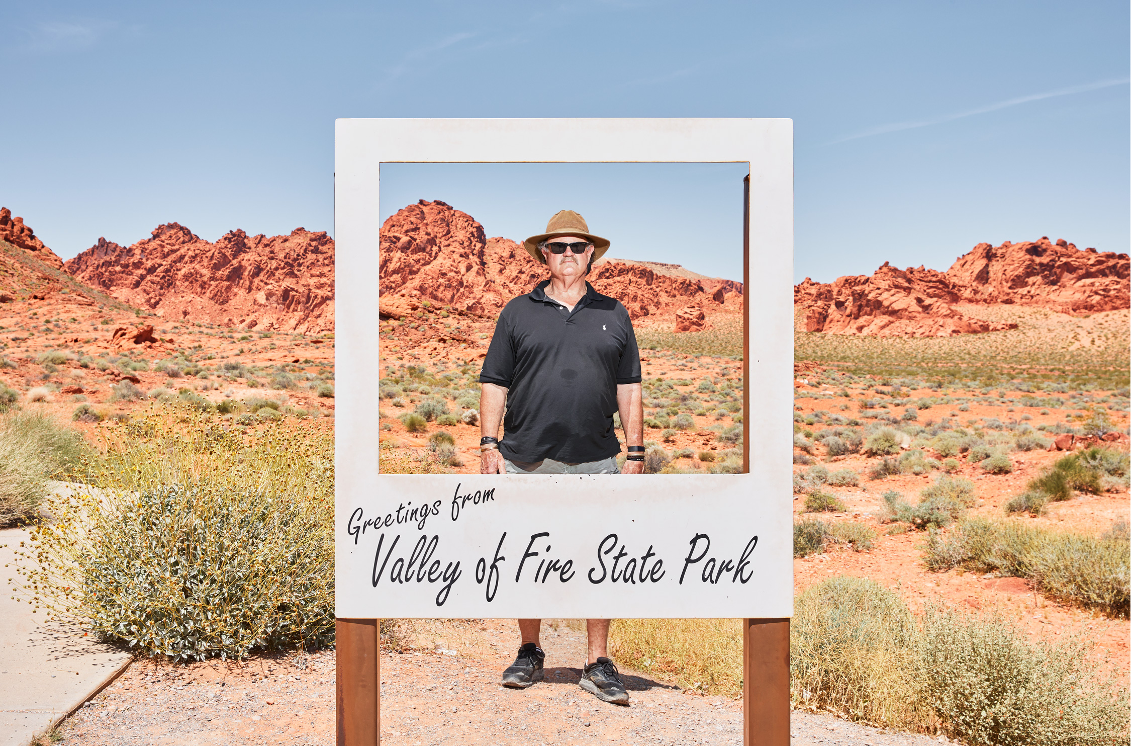 Dad Hits The Road - Valley of Fire State Park, NV - Stephen Denton Photography -  Los Angeles, California based  Commercial Photographer