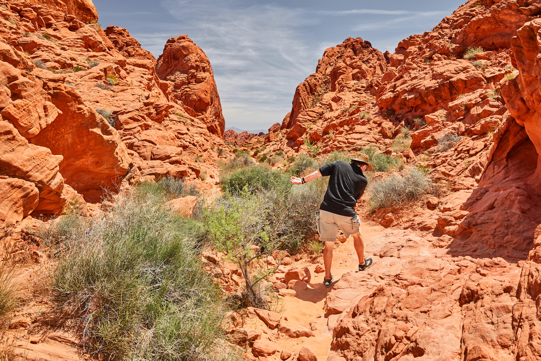 Dad Hits The Road - Valley of Fire State Park - Stephen Denton Photography -  Los Angeles, California based  Commercial Photographer
