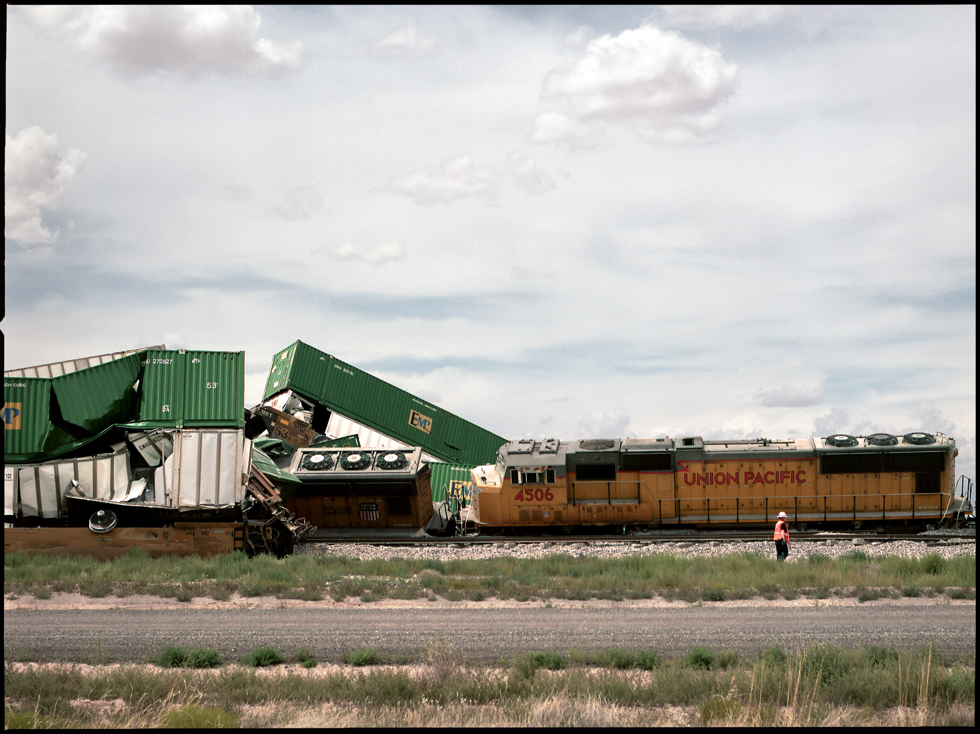 Highway Train Crash - Stephen Denton Photography - Phoenix AZ Commercial Photographer
